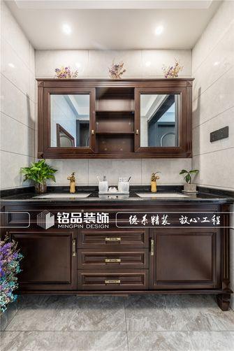 140平米三室两厅中式风格卫生间设计图