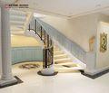 经济型140平米别墅美式风格楼梯图