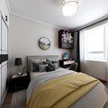 90平米三室一厅中式风格卧室图