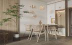 经济型80平米三室三厅日式风格餐厅效果图