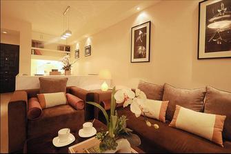经济型60平米一室一厅法式风格客厅欣赏图