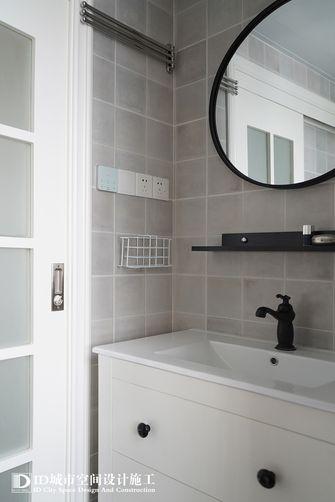 60平米一室两厅美式风格卫生间欣赏图
