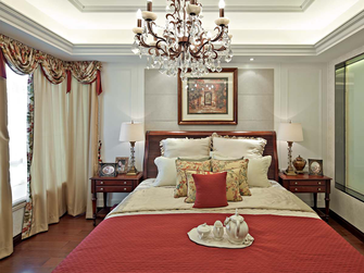 130平米四室两厅地中海风格卧室图片