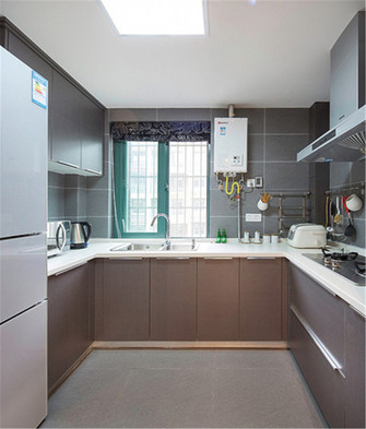 60平米一室一厅混搭风格厨房图片