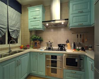 富裕型90平米三室三厅地中海风格厨房欣赏图