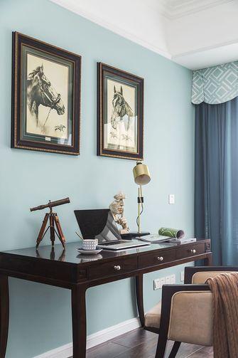 110平米三室两厅美式风格书房图片