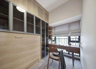 130平米三室一厅日式风格书房图片
