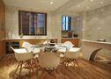 15-20万140平米复式现代简约风格餐厅背景墙效果图