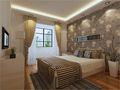 90平米现代简约风格卧室背景墙装修案例