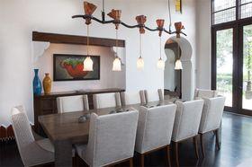 80平米地中海风格餐厅图片大全
