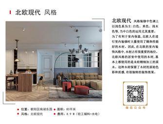 经济型80平米混搭风格客厅装修案例