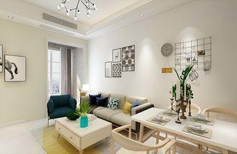 90平米三室一厅现代简约风格客厅效果图