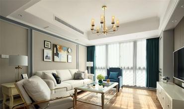 130平米三美式风格客厅装修效果图