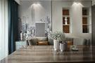 140平米四室三厅现代简约风格餐厅家具图片