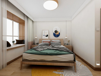 100平米公寓日式风格卧室设计图