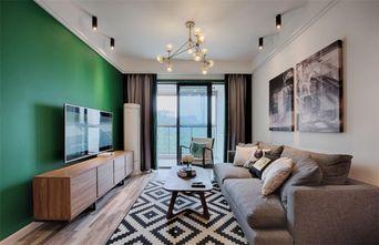 70平米混搭风格客厅图片大全