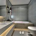 130平米三室两厅现代简约风格卫生间图