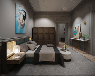 70平米一居室法式风格卧室图片大全