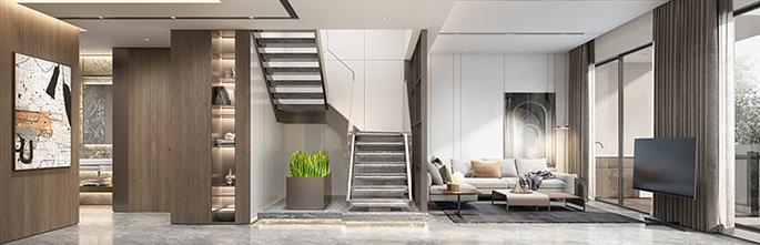 140平米三室两厅北欧风格楼梯间图