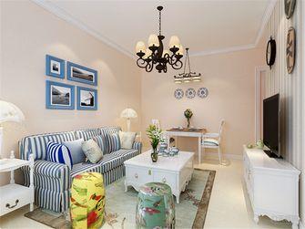 60平米一室一厅田园风格客厅装修效果图