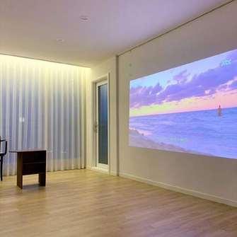 120平米三现代简约风格影音室效果图