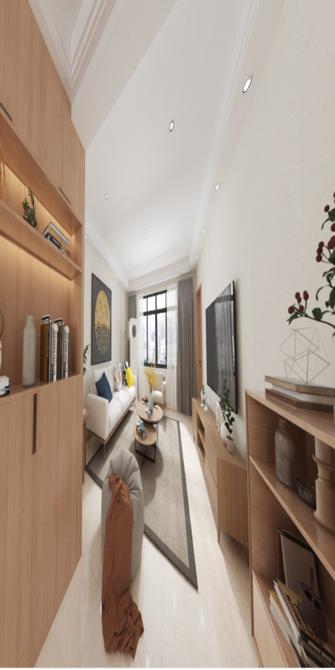 90平米三室一厅日式风格客厅图片