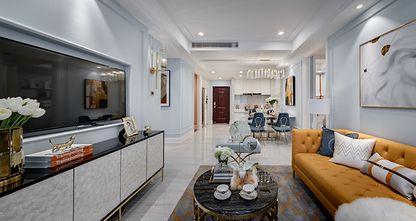 110平米三室三厅美式风格客厅效果图