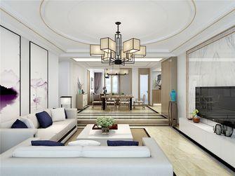 120平米三室两厅中式风格客厅装修效果图