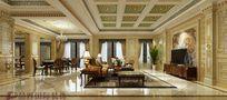 140平米别墅法式风格阳光房装修效果图