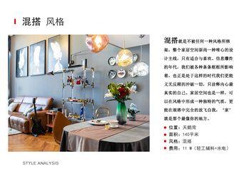 10-15万140平米三室一厅混搭风格客厅装修图片大全