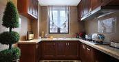 80平米三室一厅新古典风格厨房图片