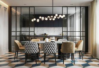 140平米三室两厅英伦风格餐厅装修案例