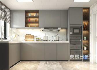 110平米四室四厅美式风格厨房图片大全