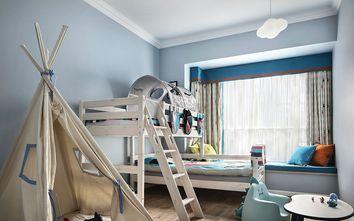 60平米现代简约风格儿童床壁纸装修图片大全