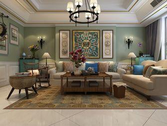 140平米三室两厅混搭风格客厅图