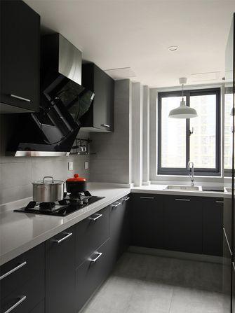 80平米三室两厅现代简约风格厨房装修图片大全