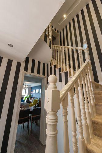 90平米复式田园风格楼梯间装修案例