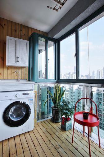 120平米三室两厅混搭风格阳台图片大全