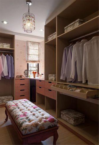 富裕型140平米三室两厅田园风格衣帽间欣赏图