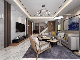 110平米三中式风格客厅装修图片大全