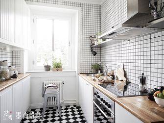 90平米三室两厅北欧风格厨房欣赏图