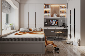 120平米三室两厅现代简约风格儿童房装修图片大全