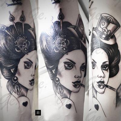 欧美人物纹身图