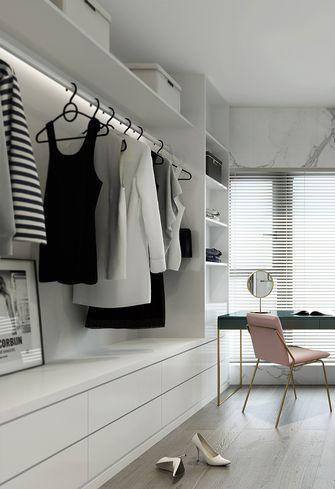 110平米三室两厅现代简约风格衣帽间橱柜装修效果图