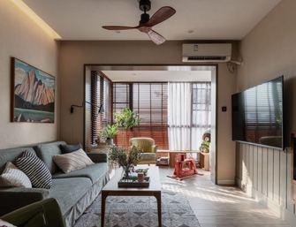 80平米三混搭风格客厅设计图