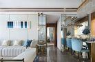 90平米三室一厅地中海风格走廊效果图