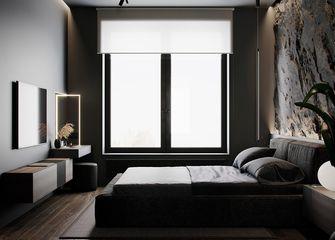 90平米英伦风格卧室效果图