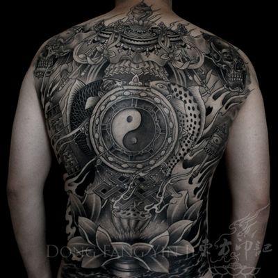 龙壁纹身款式图
