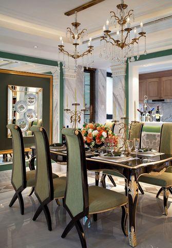 90平米三室一厅新古典风格餐厅设计图