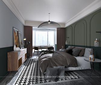富裕型130平米三室两厅英伦风格卧室装修图片大全